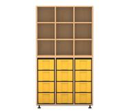 Flexeo Regal, 3 Reihen, 12 große Boxen HxBxT: 178,1 x 98,5 x 40,8 cm