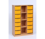 Flexeo Regal, 3 Reihen, 4 Fächer, 14 große Boxen HxBxT: 151,8 x 98,6 x 40,8 cm