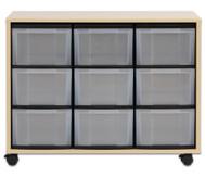Flexeo Regal mit 9 großen Boxen