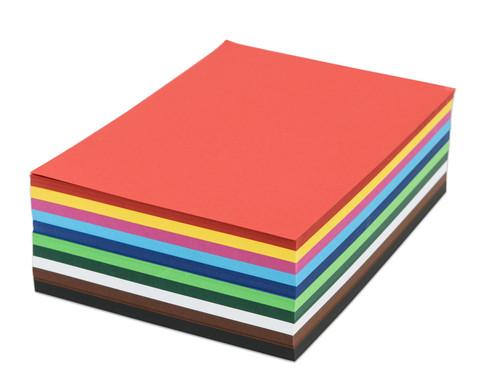 500 Blatt DIN A4 Tonzeichenkarton 160 g-m in 10 Farben