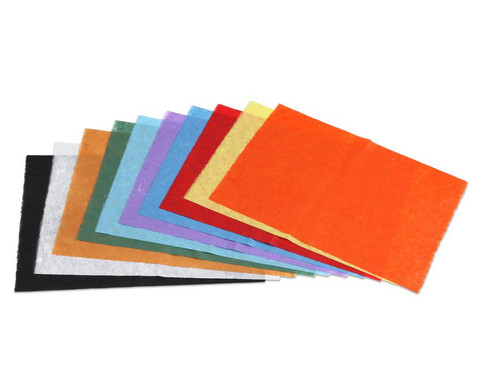 Faserseide 10 Bogen in 10 Farben sortiert