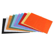 Faserseide, 10 Bogen, in 10 Farben sortiert
