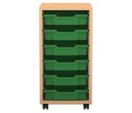 Flexeo Regal PRO, 1 Reihe, 6 kleine Boxen, HxBxT: 76,9 x 37,7 x 48 cm