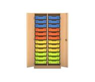 Flexeo Regalschrank PRO mit 2 Reihen und 24 kleine Boxen