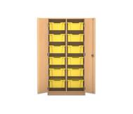 Flexeo Regalschrank PRO mit 2 Reihen und 12 großen Boxen