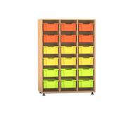 Flexeo Regal PRO, 3 Reihen, 18 große Boxen HxBxT: 143,9 x 108,5 x 48 cm