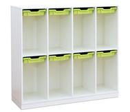Flexeo Schulranzenregal PRO, 4 Reihen 8 kleine Boxen HxBxT: 132,2 x 143,9 x 48 cm