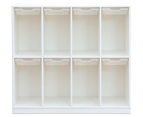 Flexeo Schulranzenregal PRO 4 Reihen 8 kleine Boxen HxBxT 1322 x 1439 x 48 cm-5