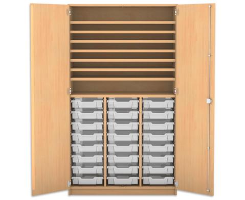 Flexeo Bastelschrank mit 24 kleinen Boxen-1