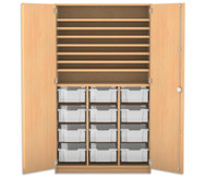 Flexeo Bastelschrank mit 12 großen Boxen