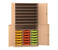 Flexeo Bastelschrank mit 18 kleinen Boxen