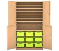 Flexeo Bastelschrank mit 9 großen Boxen