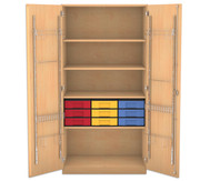 Flexeo Musikschrank, 9 kleinen Boxen HxBxT: 190 x 94,4 x 60 cm