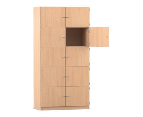 Flexeo Schliessfachschrank 10 geschlossene Faecher HxB 190 x 944 cm