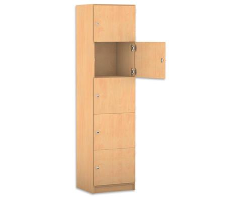 Flexeo Schliessfachschrank 5 geschlossene Faecher HxB 190 x 481 cm-1