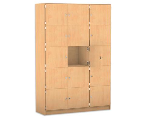 Flexeo Schliessfachschrank 15 geschlossene Faecher HxB 190 x 1425 cm-1