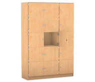 Flexeo Schließfachschrank 15 geschlossene Fächer HxB: 190 x 142,5 cm