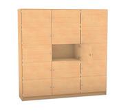 Flexeo Schließfachschrank 15 geschlossene Fächer HxB: 190 x 190,5 cm