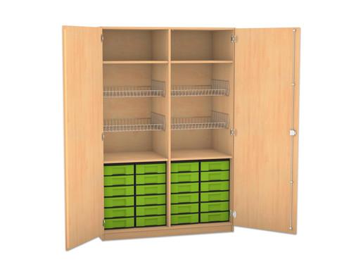 Flexeo Schubladen-Sportschrank mit 24 kleinen Boxen