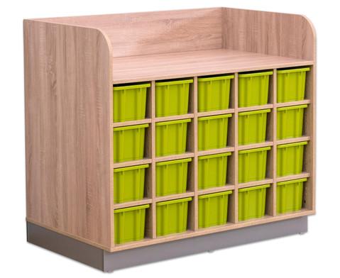 Flexeo Wickelkommode mit 20 grossen Boxen