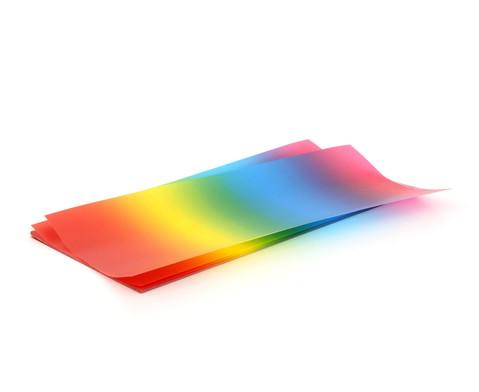 25 Blatt Regenbogen transparenter Regenbogen