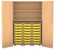 Flexeo Garagenschrank, 8 kleine Boxen , 2 Fachböden