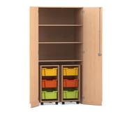 Flexeo® Garagenschrank, 2 Rollcontainer und 3 Fachböden