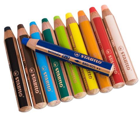 STABILO Woody-Farbstifte 10 Farben