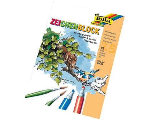 DIN A3 Zeichenblock mit 25 Blatt