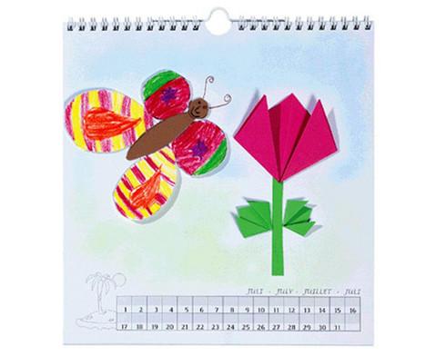 Blanko Kalender mit Spiralbindung quadratisch