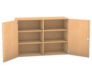 Flexeo Aufsatzschrank mit 6 Fächern und 2 Türen, HxB: 90,9 x 126,4 cm