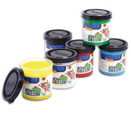 JoviDecor Acryl- Mehrzweckfarbe, 6x je 50 ml, weiß, gelb, rot, blau, grün, schwarz