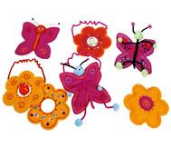 20 vorgestanzte Filzformen für 10 Schmetterlinge