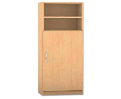 flexeo schrank mit 5 f chern und 1 halbt r hxb 143 9 x. Black Bedroom Furniture Sets. Home Design Ideas