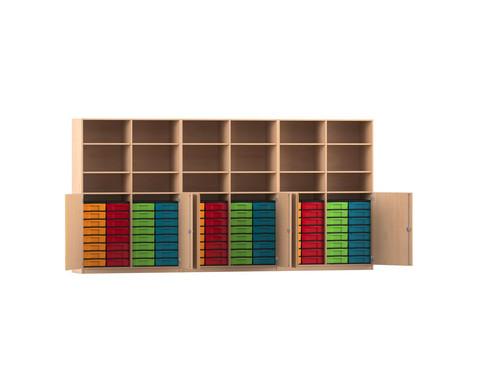 Flexeo Systemschrankwand Antares mit 96 kleinen Boxen