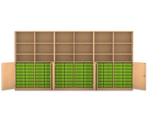 Flexeo Systemschrankwand Antares mit 96 kleinen Boxen-1