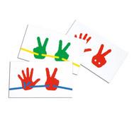 15 Vorlagekarten zu Fädel-Hände