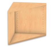Flexeo Abschlussregal eckig, Höhe 41,4 cm