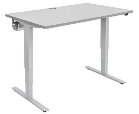Flexeo Schreibtisch hoehenverstellbar B x T 120 x 80 cm