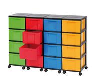 Containersystem, Höhe 86 cm, 16 Schübe