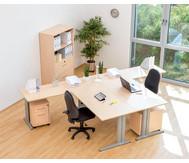 Anbautisch für L-Fuß Schreibtisch, Höhe 72-82 cm, verstellbar