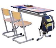 Schüler-Zweier-Tisch, 130 x 55 cm, Tischhöhe 58 cm