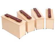 Spar-Set mit 4 Kontrabass-Klangbausteinen (c1, d1, e1, f1)