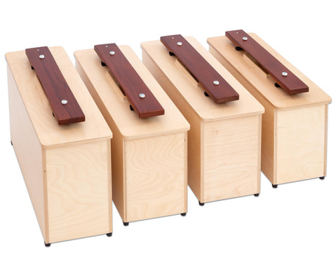 Spar-Set mit 4 Kontrabass-Klangbausteinen c1 d1 e1 f1-4