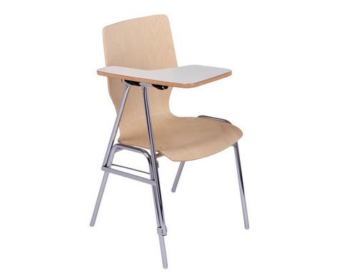 Stuhl mit klappbarer Schreibflaeche aus Holz