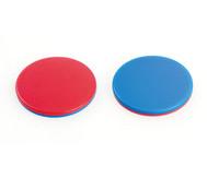 100 Wendeplättchen rot/blau