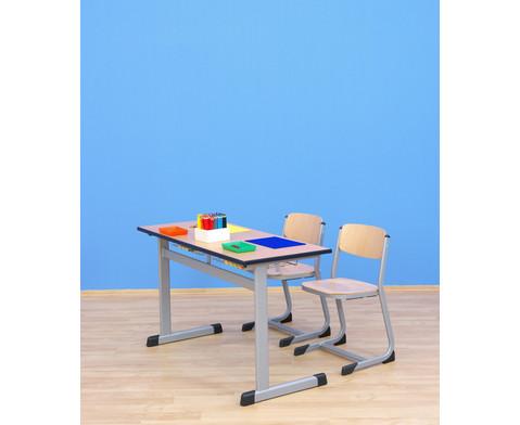 Zweier-Schuelertisch mit L-Fuss 130 x 55 cm