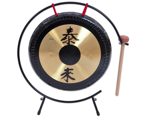 Betzold Musik Tisch-Gong mit Metall-Stativ