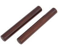 Claves aus dunkel lackiertem Kokosnußholz