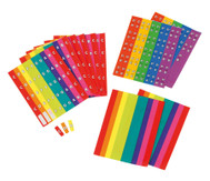 Noten-Aufkleber in Boomwhackers-Farben
